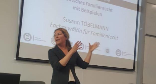 Avukat Susann Töbelmann ile AB Aile Hukuku üzerine bir seminer...